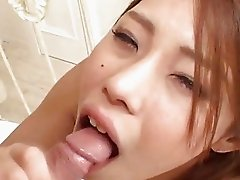 Sexy Haruka Sanada giving good head!