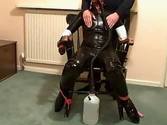 Fi Climaxes Repeatedly During Gas Mask Breathplay