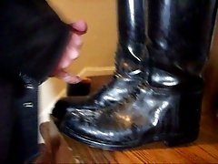 David Keller of Cleveland cums on Dehner boots
