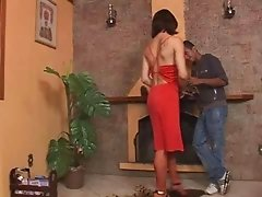 Adriana Rodrigues bangs lucky boy
