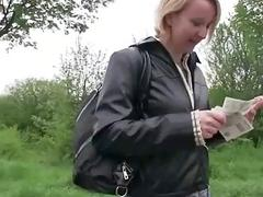 Czech girl Meggie pounded for some cash