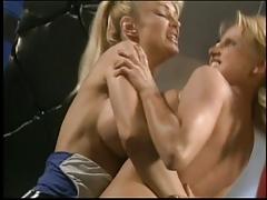 Big breasted blone lesbians having sex