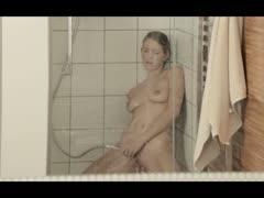 Reaching orgasm in the luxury shower