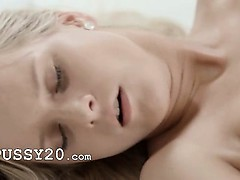 blond angel enjoying self orgasm