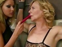 Cindy Hope playing wtih submissive granny