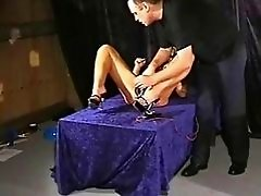 Bizarre medical fetish and electro bdsm of blonde