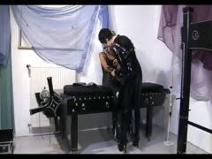 Hottie in lesbian domination scene