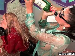 Nasty blonde and brunette sluts go crazy part5
