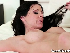 Slutty brunette MILF gets her tight