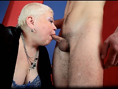 Fat chubby big boobed nasty blonde MILF