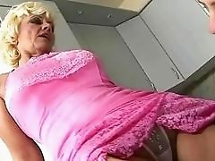 Naughty grandma gets her hairy pussy fucked