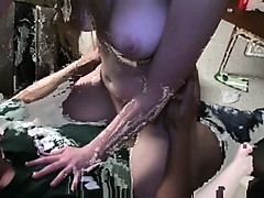 Nice brunettes intercourse in threesome
