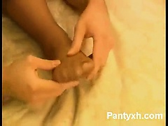Versatile Chick Pantyhose Hot Fucking