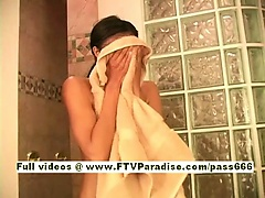 Farah Ingenious amazing brunette babe taking shower