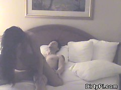 Cheating Brunette Wife Riding Dick On Security Camera
