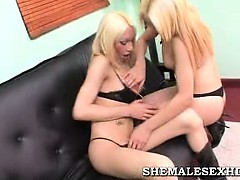 Hot Blonde Shemales Fucking