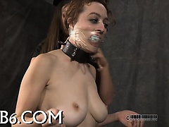 Suffocating mask for lusty hotty