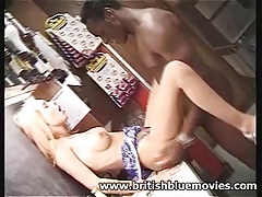 Barmaid Interracial Hardcore with Big Willy Omar