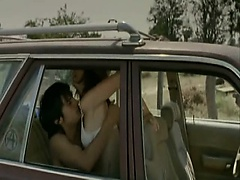 Maribel Verdu having sex with a guy in the backseat of a