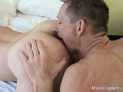 Two sexy fags fucking on the bed and