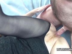 Mature slut Layla Redd in pantyhose and getting banged
