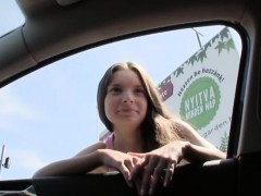 Hitchhiker teen Anita B brought in public and fucked