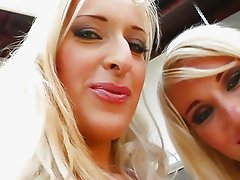 Two horny blondes love getting fingering and fisting in wild orgy