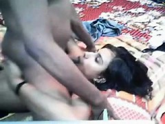 Indian babe gives blowjob