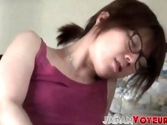 Ultra-Cute Asian uses hook-up playthings while privately filmed