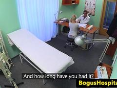 Bigboobed patient drilled by doctor