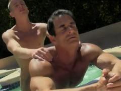 Army man gay porn movie Daddy Poolside Prick Loving