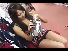 Japanese Girl Test some Stockings 1n