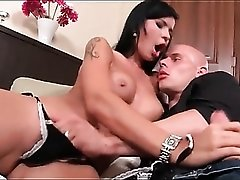 Babe with black hair is a hot cocksucking slut