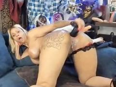 Sexy Milf Squirting After a Wild Anal and Pussy Pl