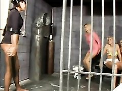 Lesbian prison sex with hot pussy eating