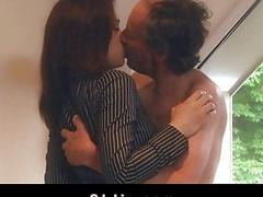 Old Grandpa Fucks Gina Gerson And Her Girlfriend