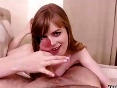 Teen Handjobber Makes Many Faces Releasing Cum