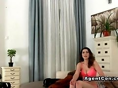 Busty amateur toys and fucks on casting bigtits european