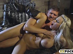 Huge titted blonde woman Peta Jensen fucked by big cock