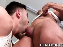 Handsome cock suckers go down on each other super hard
