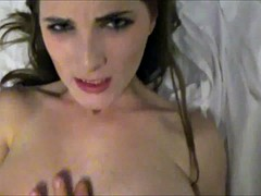 Sweet brunette needs only his hard cock in her