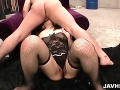 Nozomi Hazuki's fuck buddy skull fucks her face and explodes his jizz on her face