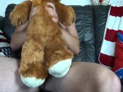 giving my teddybear some love