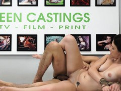 Real teen roughfucked at BDSM casting