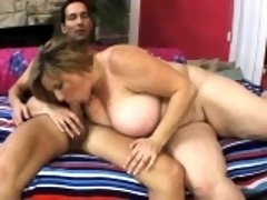 Chubby blonde cougar Deedra Rea gets her tight honey hole fucked deep