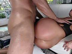 meaty bubble booty of candice dare fits great on that big dick