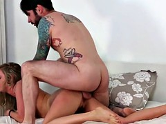ass spreading babe rammed doggystyle