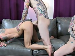 busty tattooed milf cams with joanna angel and small hands