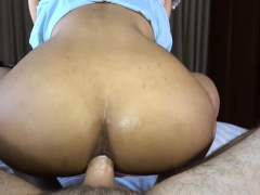 Teen amateur ladyboy with a hot body pov blowjob and anal