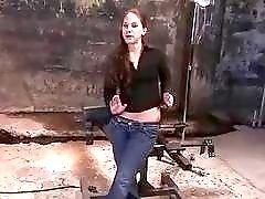 Tied up slave has orgasmic enema thanking the BDSM master